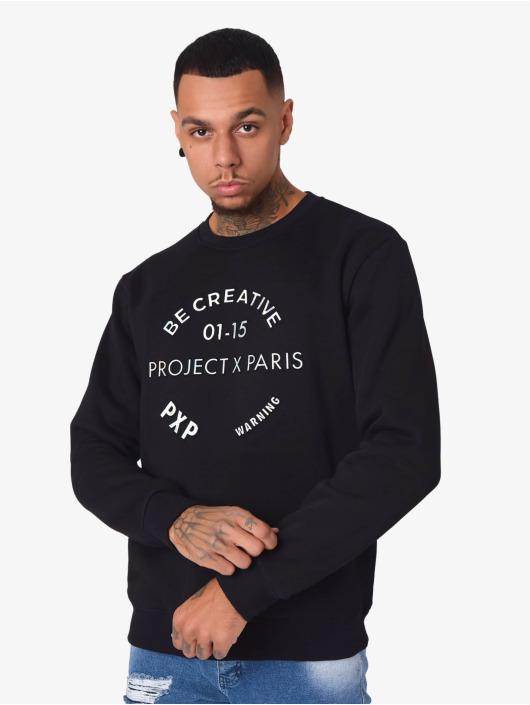 Project X Paris Pullover Relief Logo schwarz