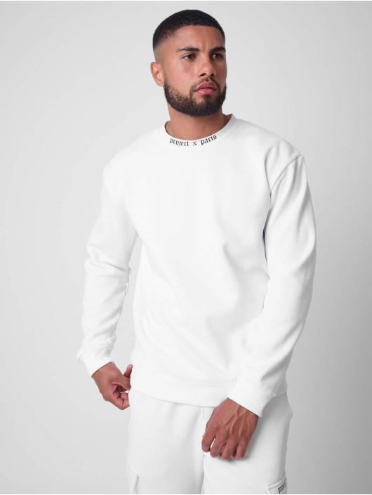 Project X Paris Pullover Gothic print Crew neck weiß