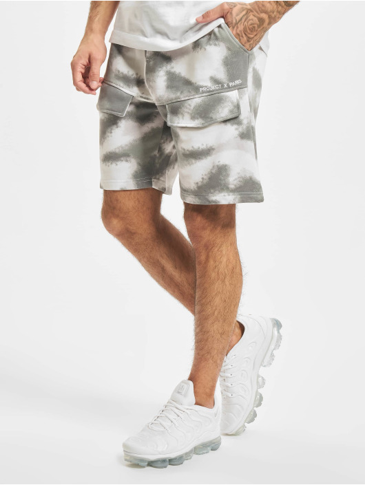 Project X Paris Short Abstract Camouflage grey
