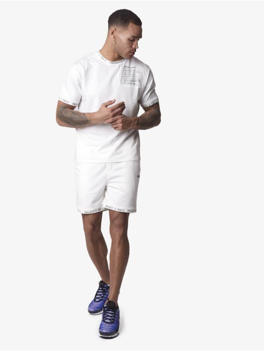 Project X Paris Shorts Short Text bianco