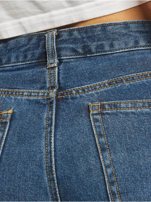 Project X Paris Shorts Turn Up Denim blau