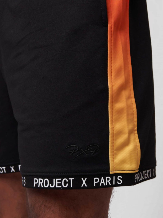 Project X Paris shorts Gradient Printed Band zwart