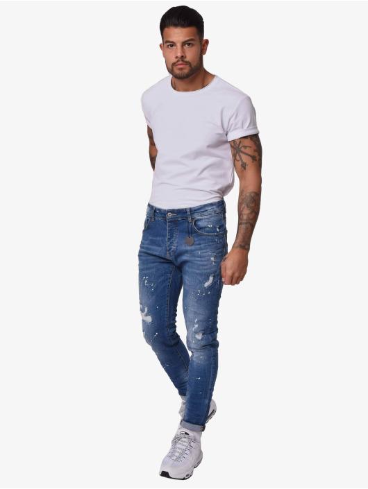 Project X Paris Skinny Jeans Mid Wash blau