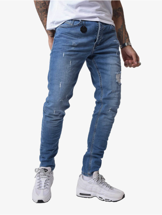 Project X Paris Skinny Jeans Torn blue