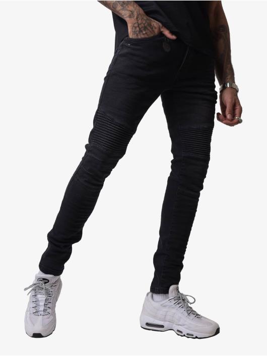 Project X Paris Skinny Jeans Biker czarny