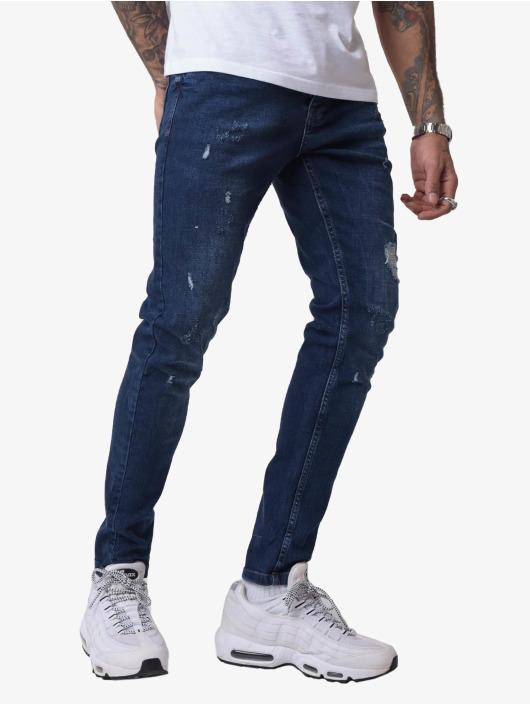 Project X Paris Skinny Jeans Torn niebieski