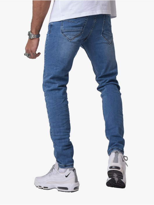 Project X Paris Skinny Jeans Torn niebieski
