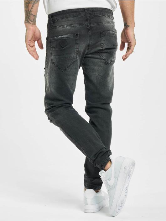 Project X Paris Skinny Jeans Regular Jean with Worn Effect schwarz
