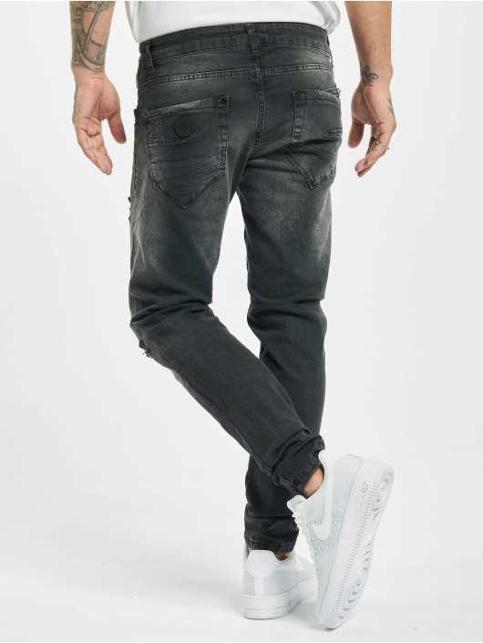 Project X Paris Skinny Jeans Regular Jean with Worn Effect sort