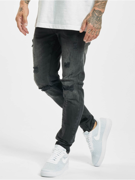 Project X Paris Skinny jeans Regular Jean with Worn Effect zwart