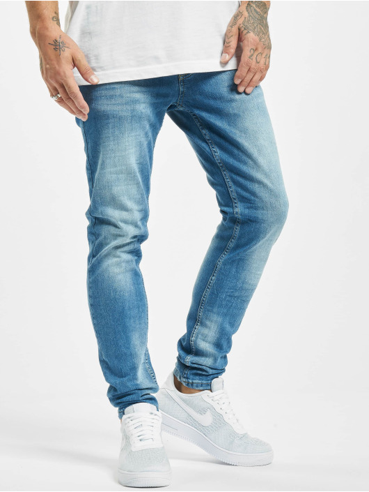 Project X Paris Slim Fit -farkut Basic Slim Washed sininen