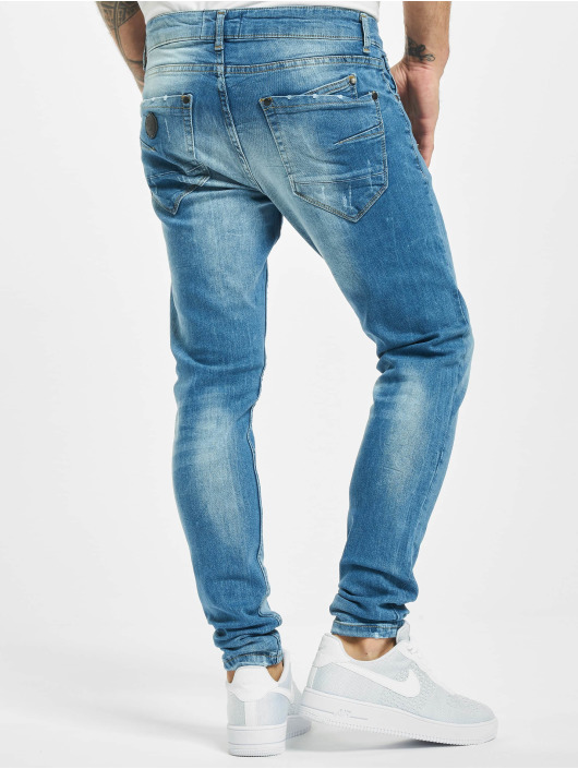 Project X Paris Slim Fit Jeans Basic Slim Washed blauw