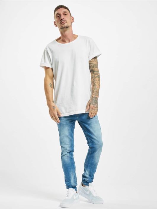Project X Paris Slim Fit Jeans Basic Slim Washed modrý