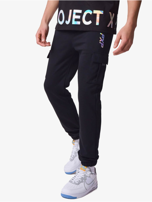Project X Paris Spodnie do joggingu Iridescent Writing czarny