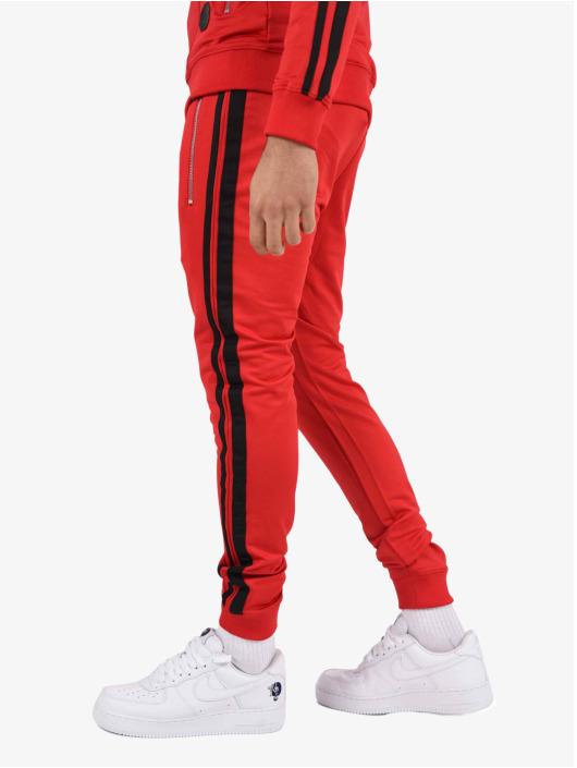 Project X Paris Spodnie do joggingu Double-Striped czerwony