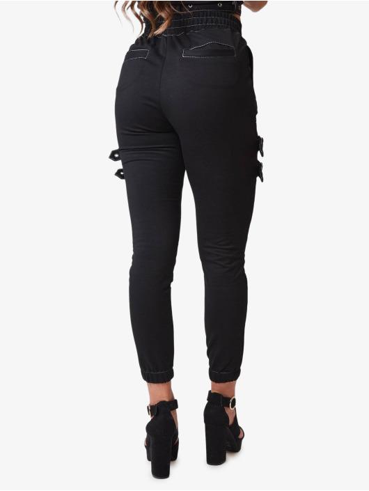 Project X Paris Spodnie wizytowe Belt Strap czarny
