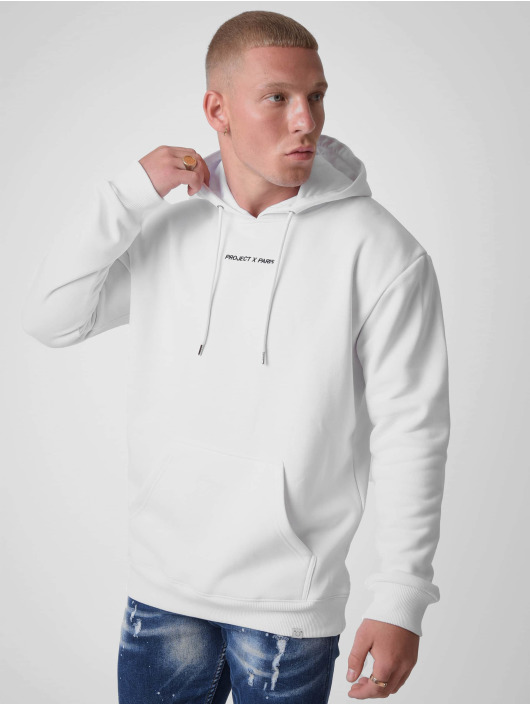 Project X Paris Sweat capuche Basic Print blanc