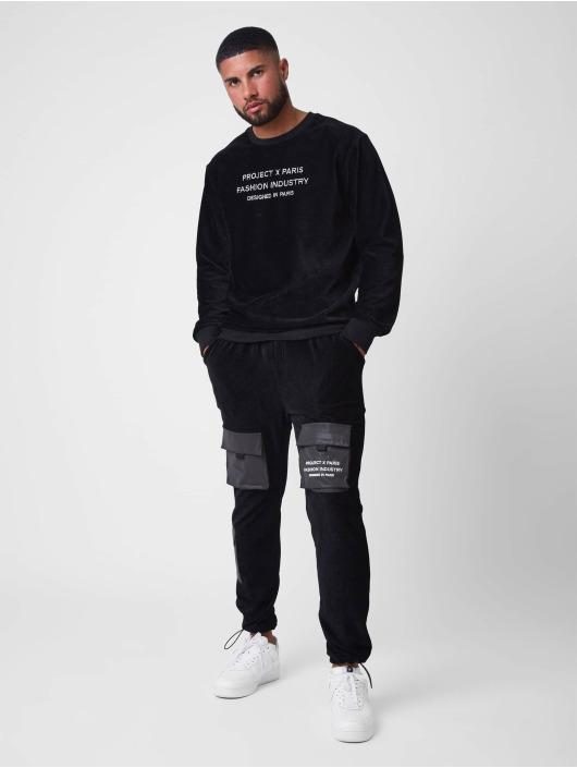 Project X Paris Swetry Loose Corduroy czarny