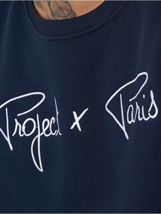 Project X Paris Swetry Chest Logo niebieski