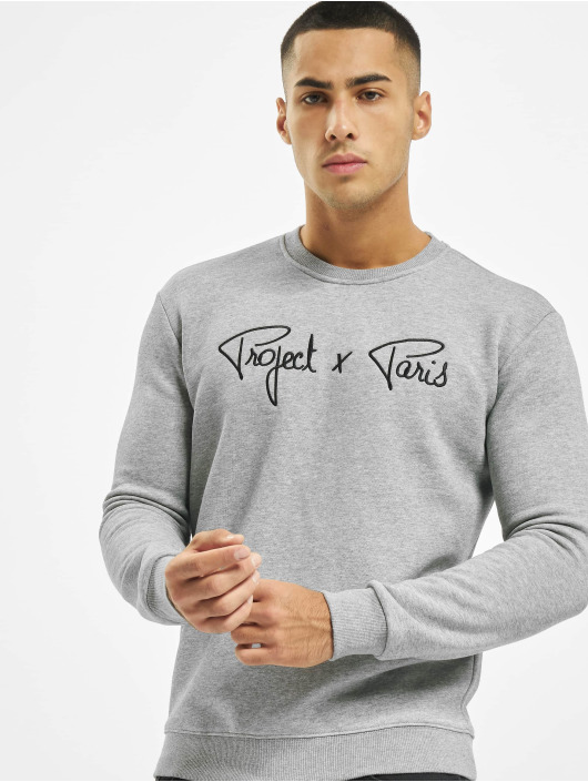 Project X Paris Swetry Chest Logo szary
