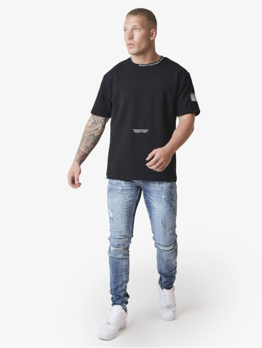 Project X Paris T-paidat Embroidery Logo Loose musta