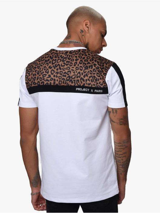 Project X Paris T-paidat Leopard Print Panels valkoinen