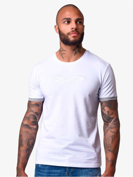 Project X Paris T-paidat Sleeve Check Details valkoinen