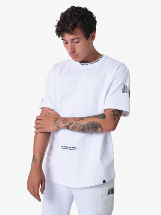 Project X Paris T-shirt Project X Paris Embroidery Logo Loose bianco