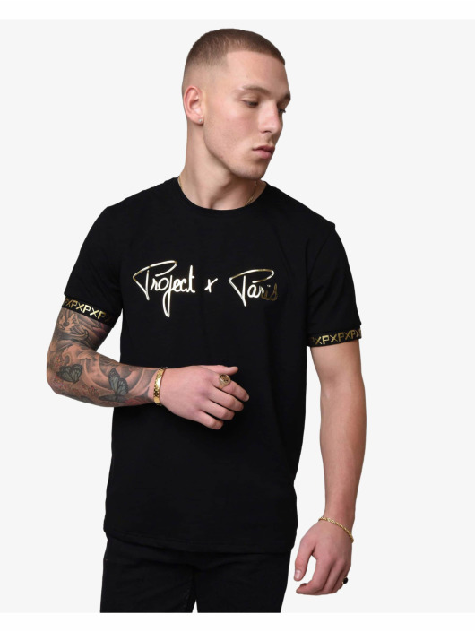 Project X Paris T-Shirt Golden Translucent Logo black