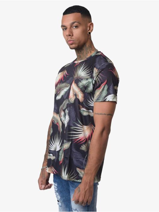 Project X Paris T-Shirt Foliage Pattern black