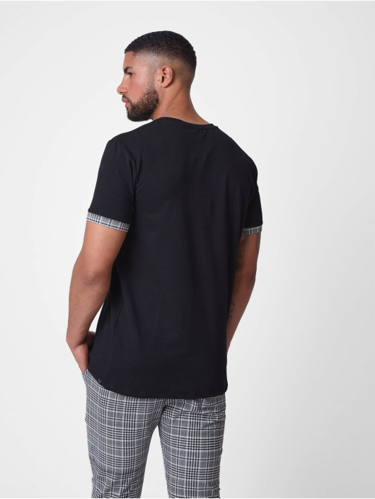 Project X Paris T-Shirt Embroidery Checkered Lapel black