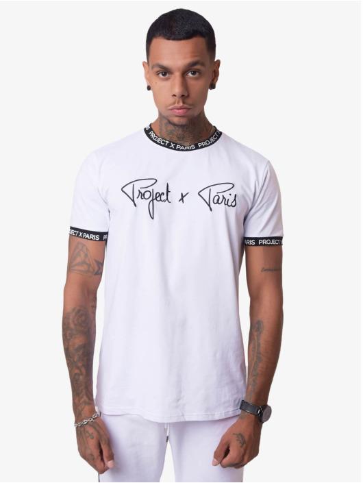 Project X Paris T-Shirt Logo Bands blanc