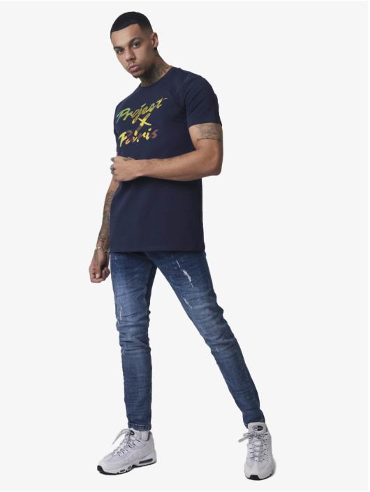 Project X Paris T-Shirt Iridescent Logo blau