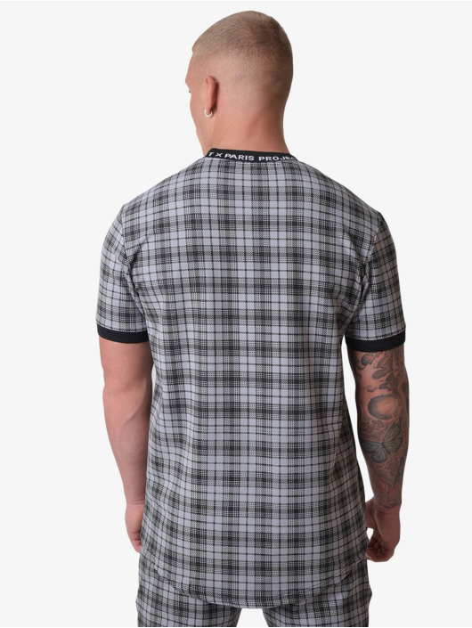 Project X Paris T-shirt Black Check nero