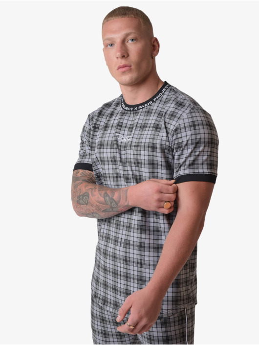 Project X Paris T-Shirt Black Check noir