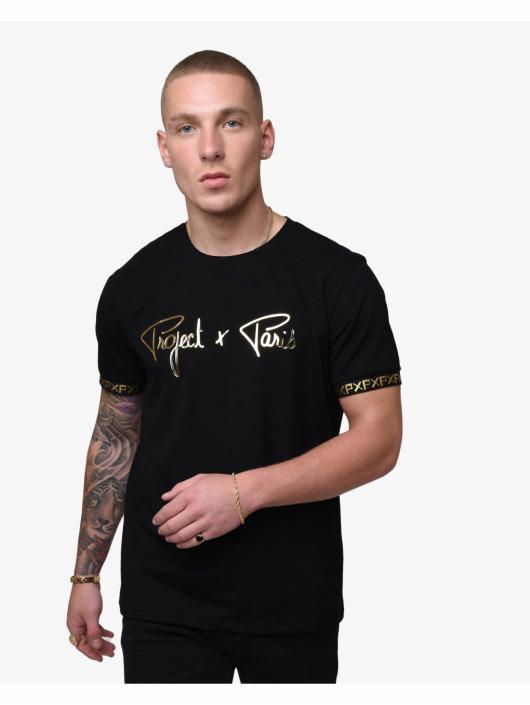 Project X Paris T-Shirt Golden Translucent Logo schwarz