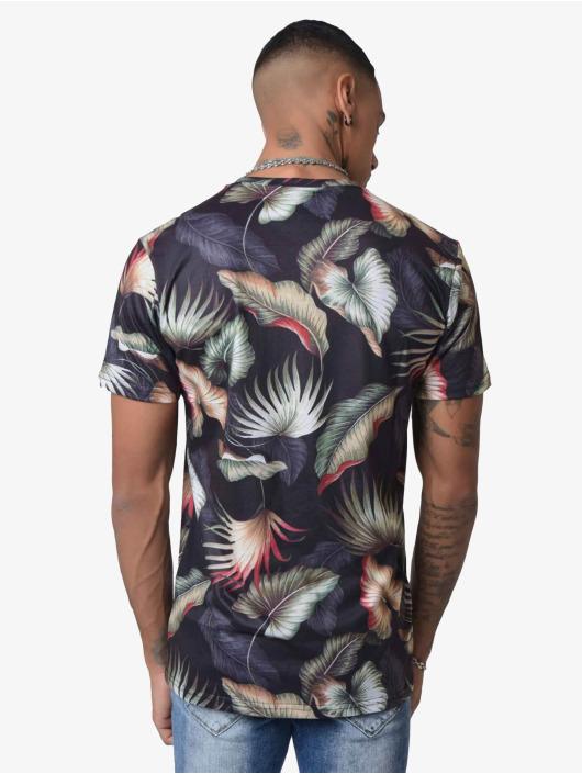 Project X Paris T-Shirt Foliage Pattern schwarz