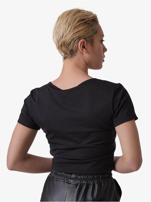 Project X Paris T-Shirt V-neck Cropped schwarz