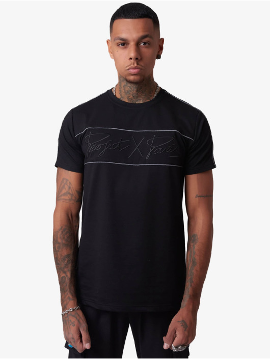 Project X Paris T-Shirt Reflect Piping schwarz