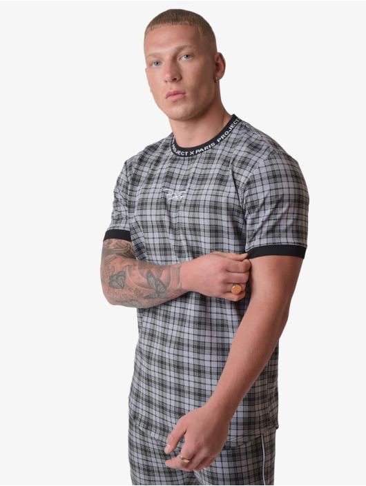 Project X Paris T-Shirt Black Check schwarz