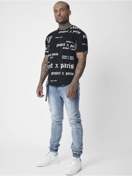Project X Paris T-Shirt Gothic Logo Typo schwarz