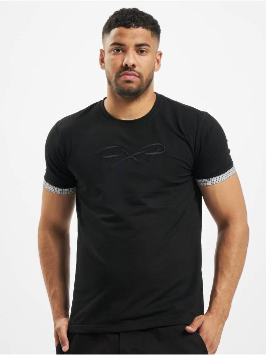 Project X Paris t-shirt Sleeve Check Details zwart