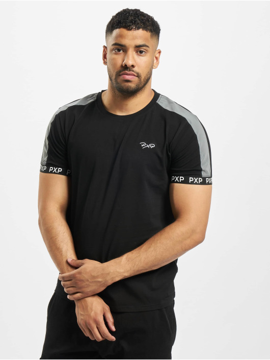 Project X Paris t-shirt Reflective Track Shoulder zwart