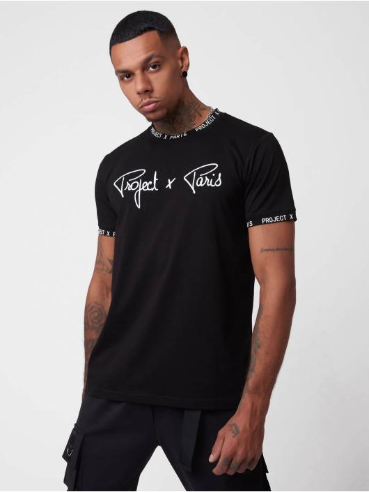 Project X Paris t-shirt Logo Bands zwart