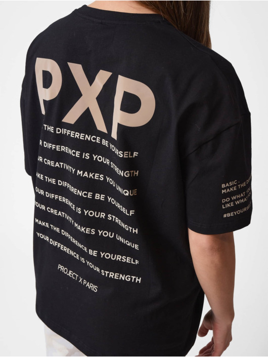 Project X Paris t-shirt Reflect Script zwart