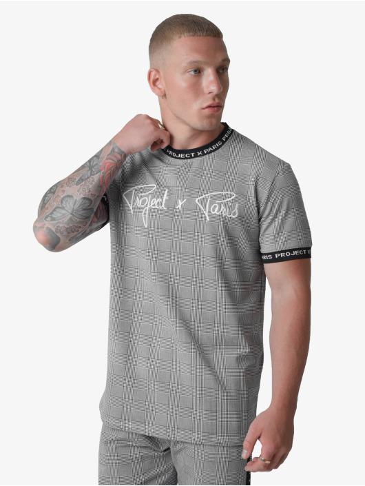 Project X Paris t-shirt Checked Logo band zwart