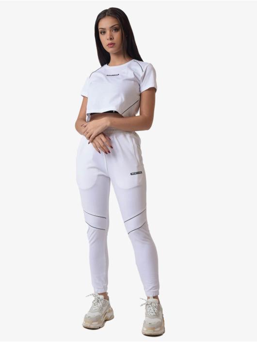Project X Paris T-shirts Contrast Piping Crop hvid