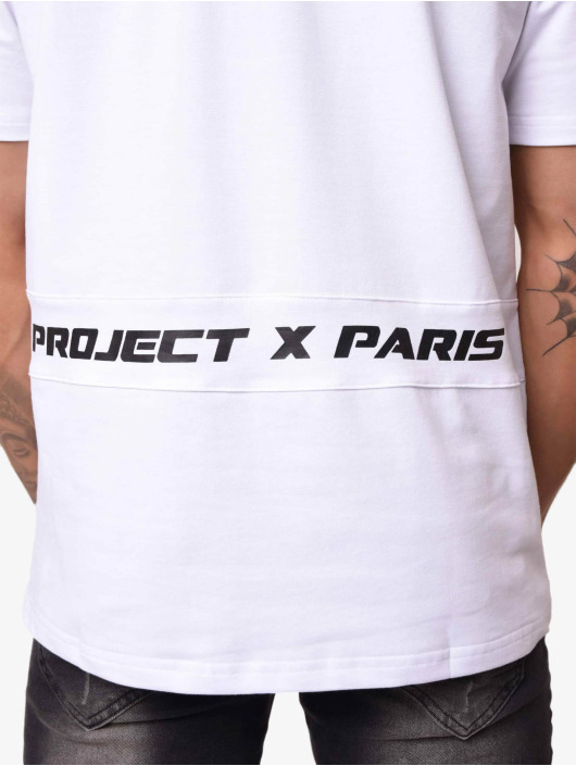 Project X Paris T-Shirty Contrast Logo bialy