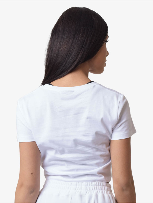 Project X Paris T-Shirty Contrast Piping Crop bialy