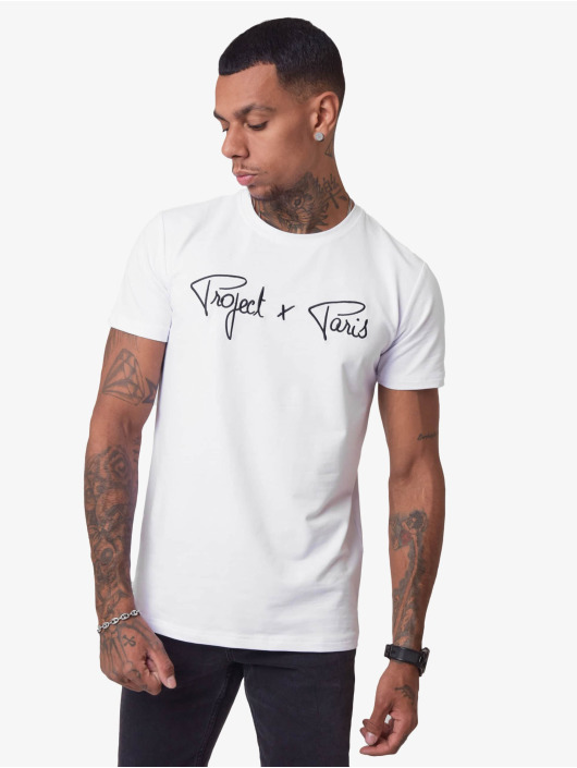 Project X Paris T-Shirty Logo bialy